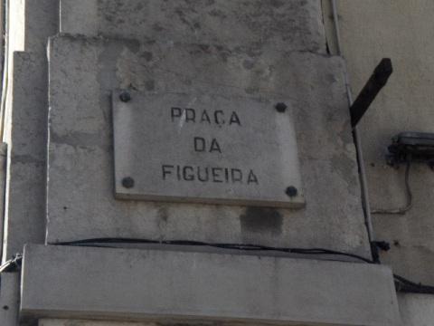 Praça da Figueira placa