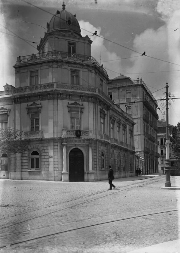 O Palacete Barata Salgueiro (Foto: Judah Benoliel, 19aa, Arquivo Municipal de Lisboa)