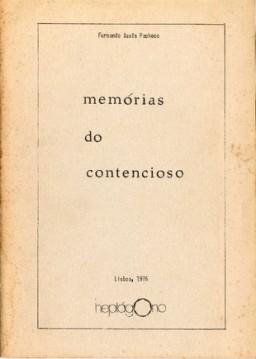 memórias do contencioso raa1964